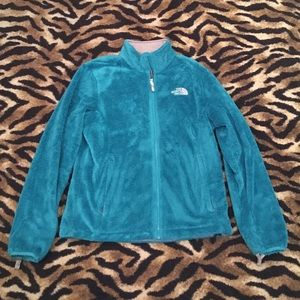 The North Face Bluish Green Zip Up Jacket Size S